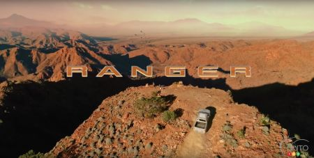 Ford Ranger 2023, from high above