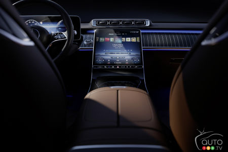 2021 Mercedes-Benz S-Class, central console, dashboard