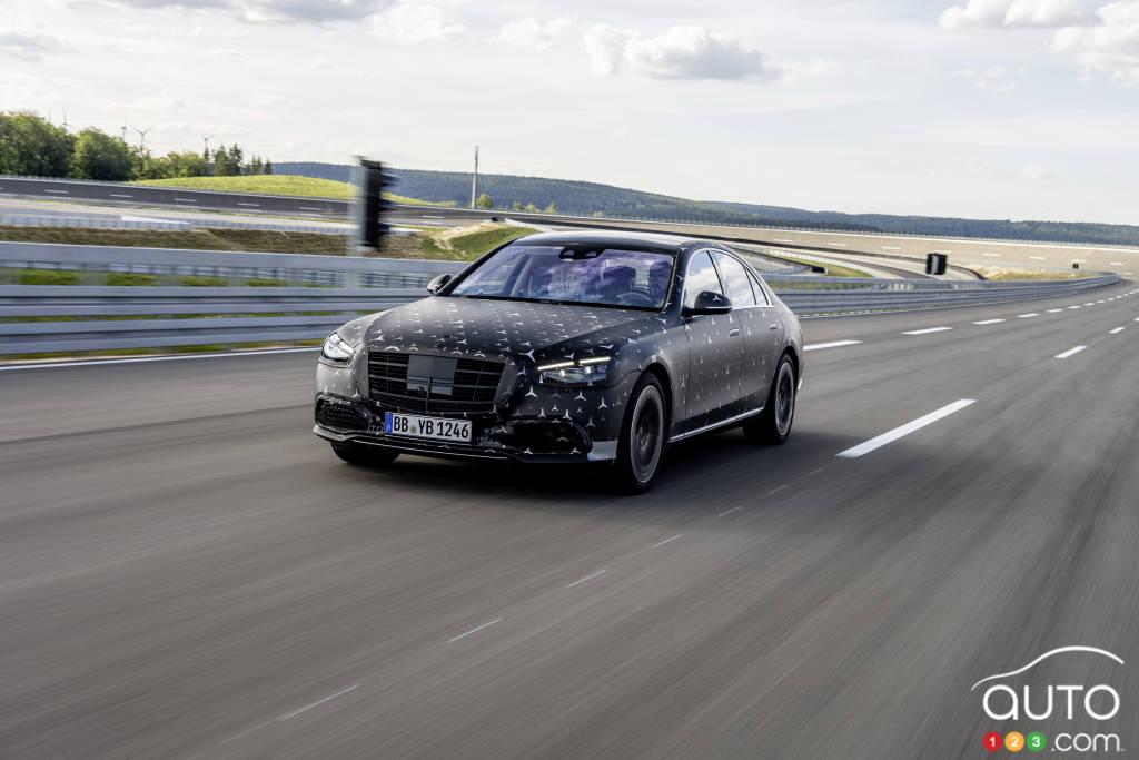 Mercedes-Benz Classe S 2022, sur la piste