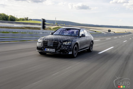 2022 Mercedes-Benz S-Class S , on the track