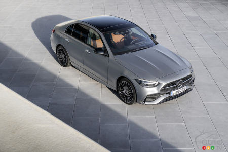 2022 Mercedes-Benz C-Class, from above
