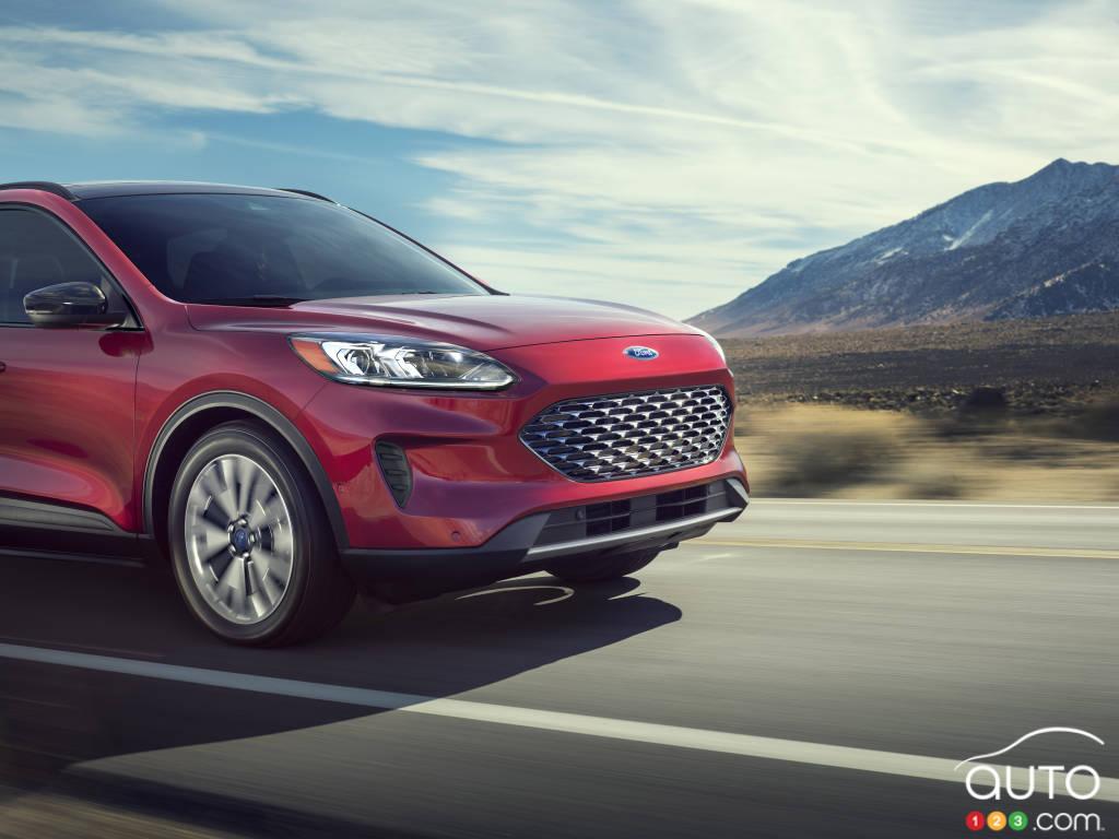 Ford Escape hybride 2020, calandre, phares