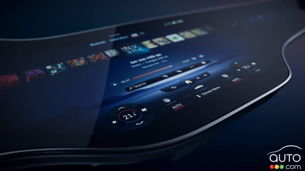 Écran central du MBUX Hyperscreen