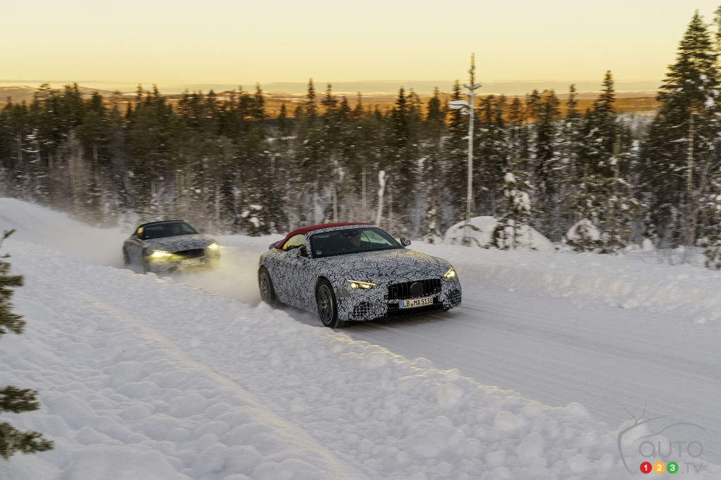 Mercedes-AMG Classe SL 2022, dans la neige