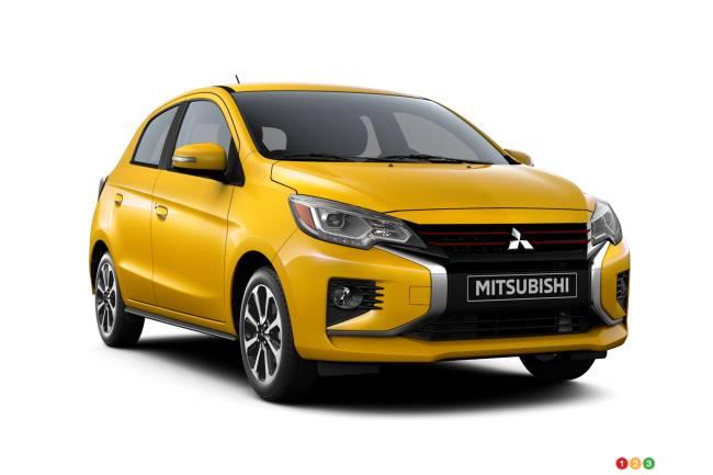 2021 Mitsubishi Mirage, three-quarters front