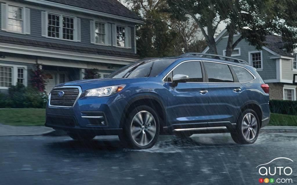 Subaru Ascent 2021, trois quarts avant
