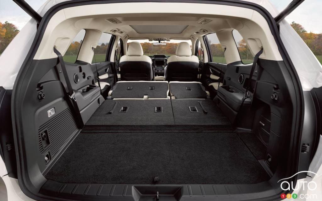 Subaru Ascent 2021, espace de chargement