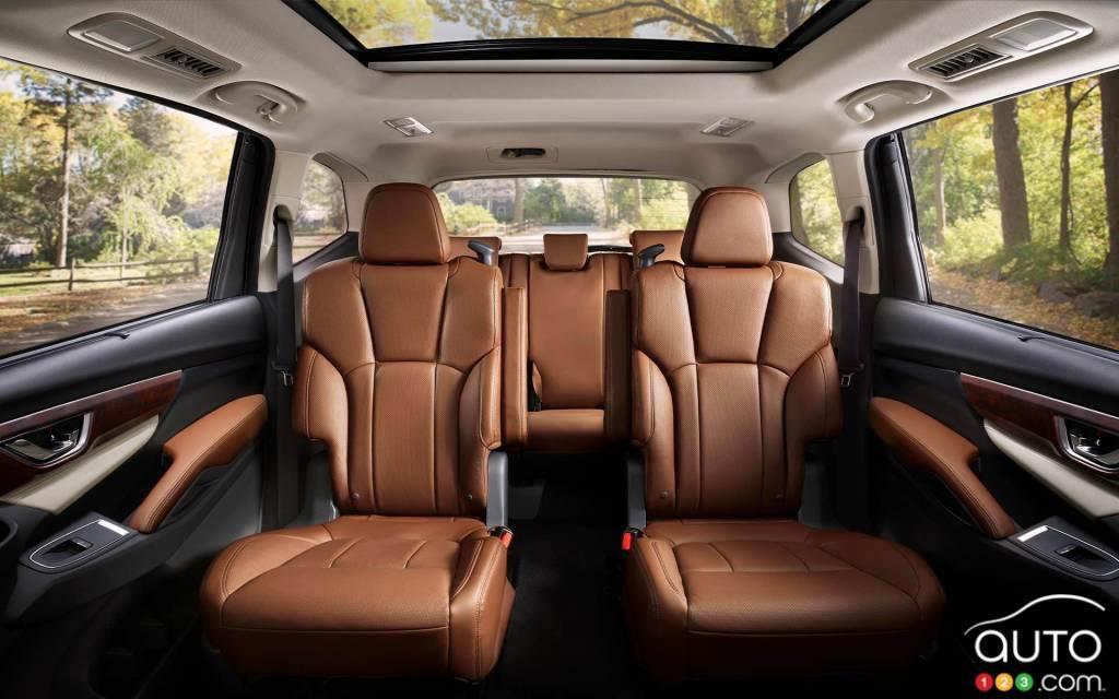 Subaru Ascent 2021, sièges de deuxième et troisième rangée