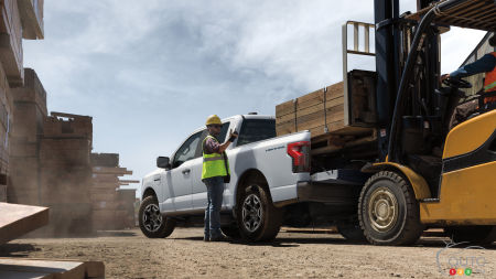 2022 Ford F-150 Lightning Pro, with cargo