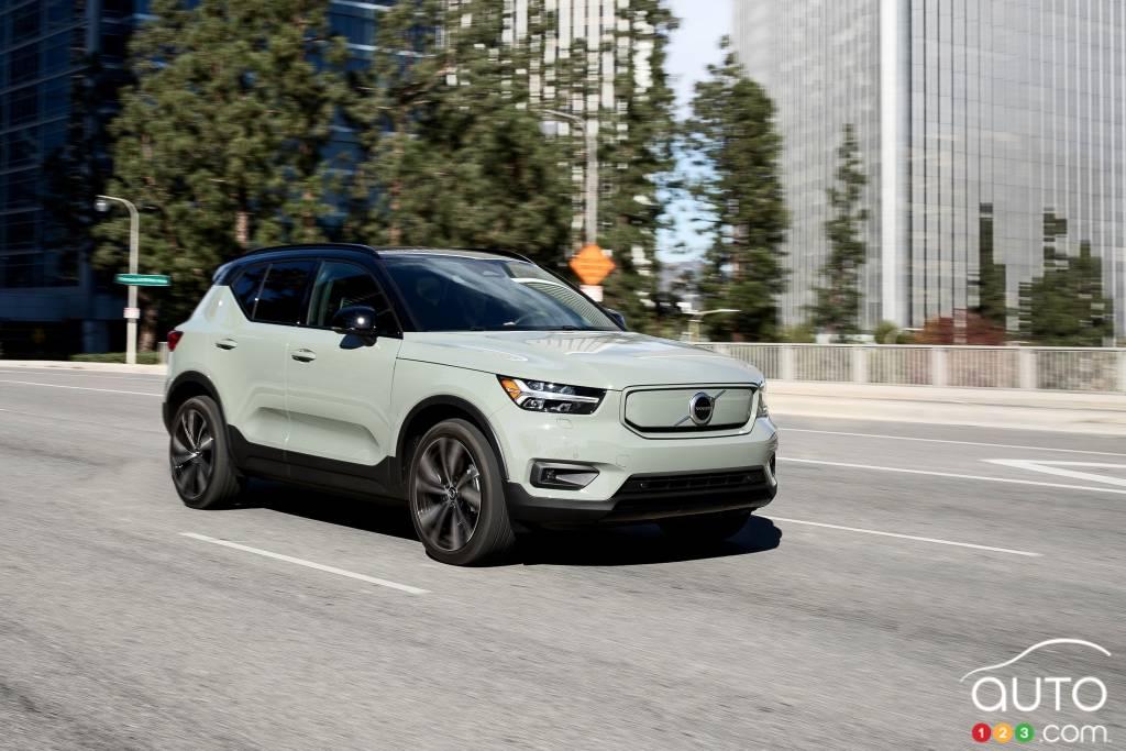 Volvo XC40 Recharge 2021, trois quarts avant