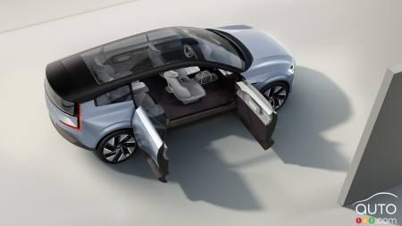Volvo Concept Recharge, open doors