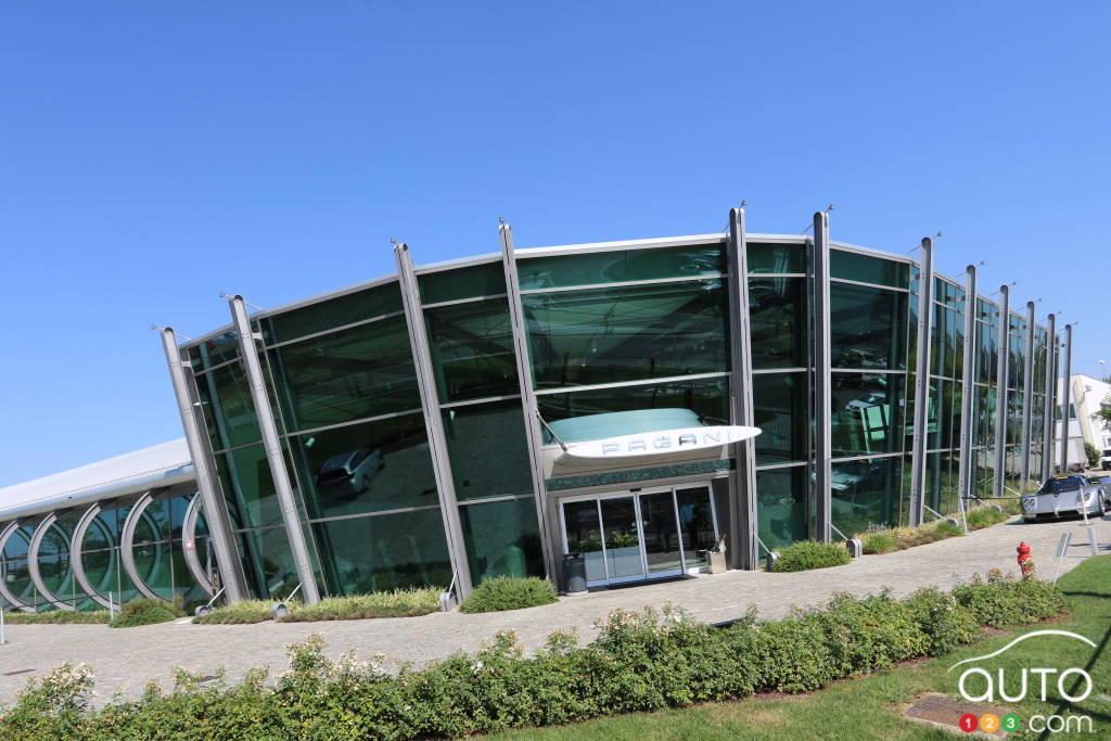 L'usine, les bureaux d'étude et le musée Pagani, à quelques kilomètres de Modène en Italie.