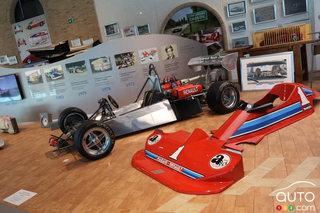 La première Pagani jamais construite, une Formule 2 motorisée par un moteur Renault (1979).