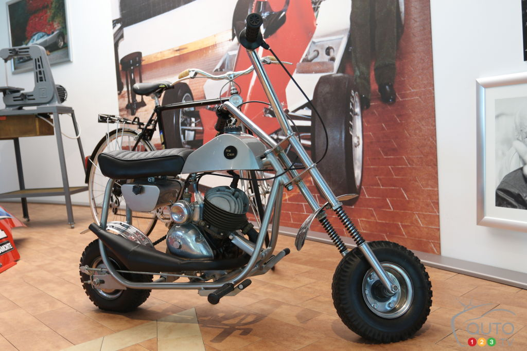 Le premier véhicule signé Horacio Pagani, une petite moto (1971).