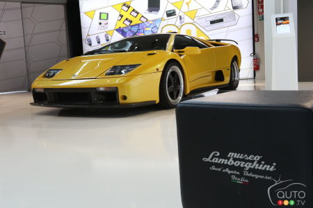 The Diablo at the Museo Lamborghini in Sant'Agata.