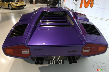 The back end of the Lamborghini Countach (1974).