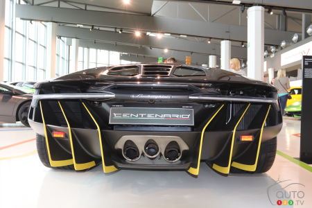 The back end of the Lamborghini Centennario (2016).
