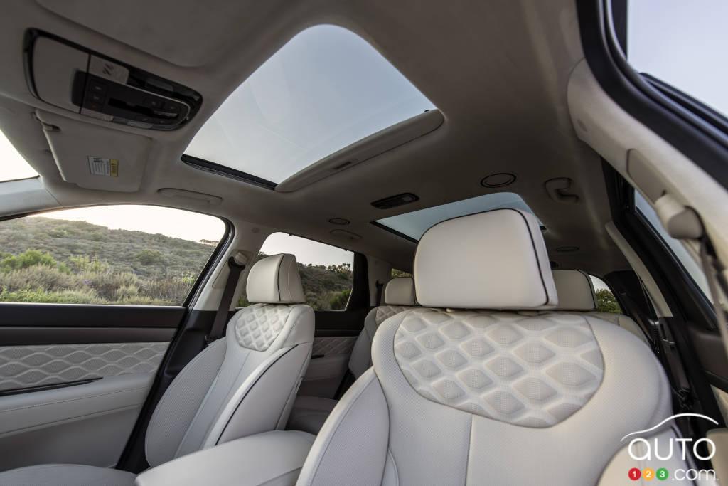Hyundai Palisade Calligraphy 2021, intérieur vers l'arrière