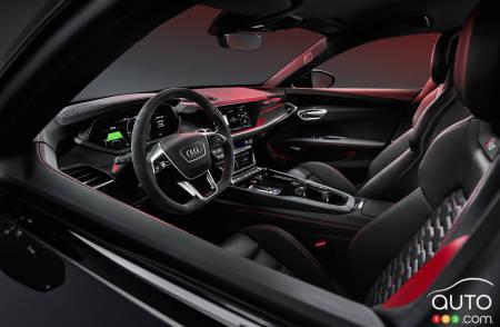 Audi e-tron GT, seats, steering wheel