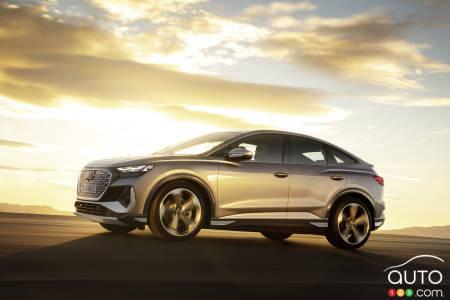 2022 Audi Q4 e-tron Sportback, profile