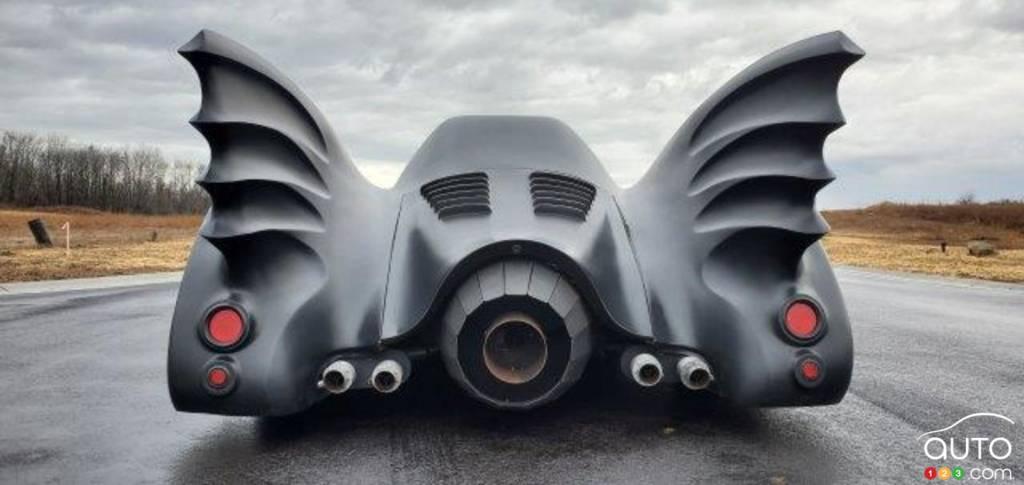 La réplique du Batmobile de Tim Burton, arrière