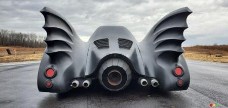 The replica of Tim Burton'S Batmobile, rear