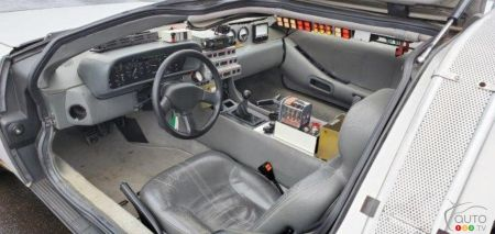 The replica of Doc's DeLorean, interior