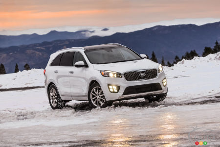 The Kia Sorento, one of the finalists for the 2016 Canadian Utility of the Year
