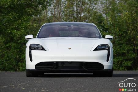 2020 Porsche Taycan Turbo S, front