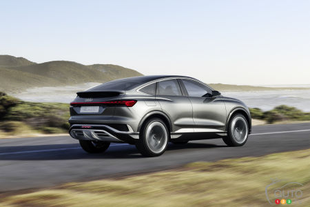 Audi Q4 e-tron Sportback concept, three-quarters rear