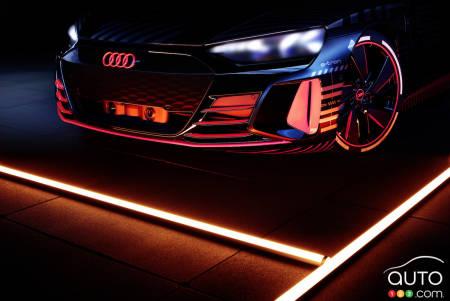 2021 Audi e-tron GT, front grille