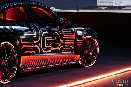 2021 Audi e-tron GT, three-quarters rear