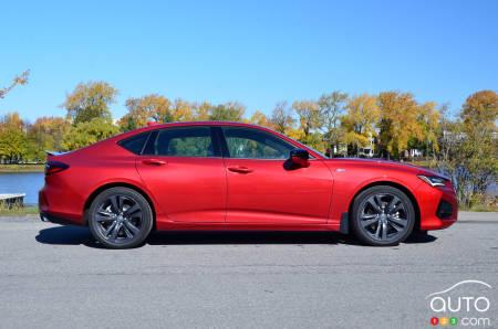 2021 Acura TLX A-Spec, profile