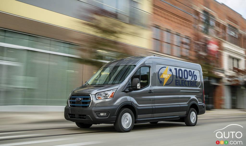 Le Ford E-Transit 2022, sur la route