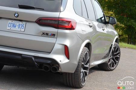 2020 BMW X5 M, rear