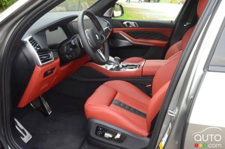 2020 BMW X5 M, seats