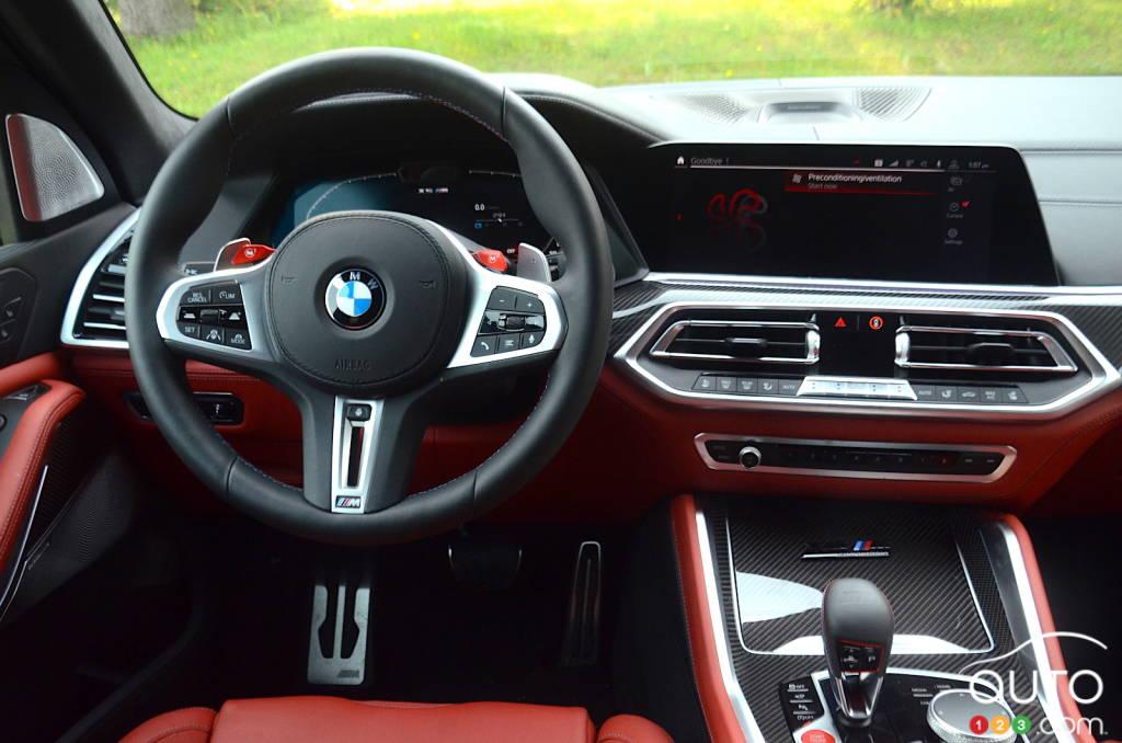 BMW X5 M 2020, intérieur