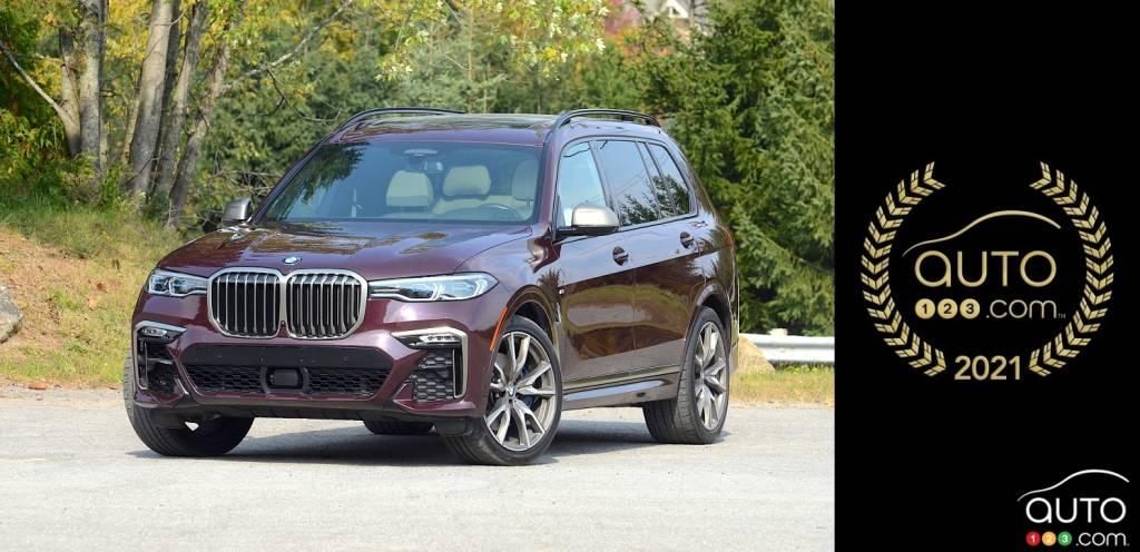 BMW X7, trois quarts avant