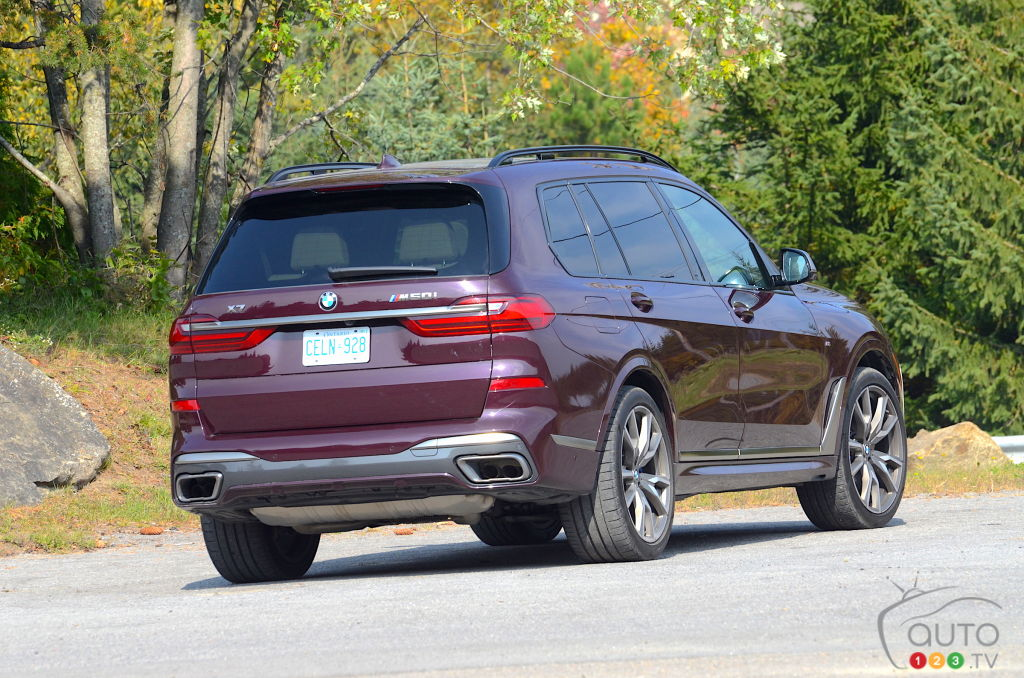 BMW X7, trois quarts arrière
