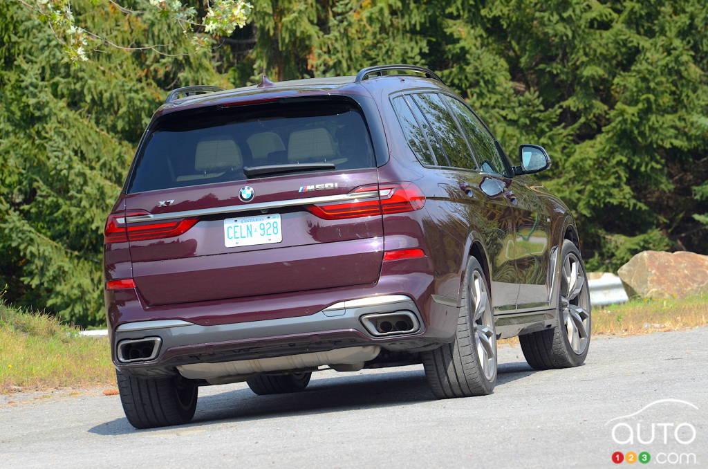 BMW X7, arrière