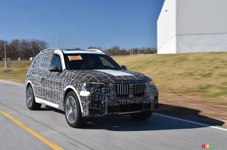 BMW X7 de pré-production