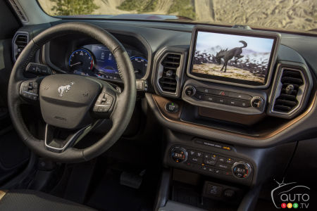 Ford Bronco Sport Badlands 2021, volant. écran tactile