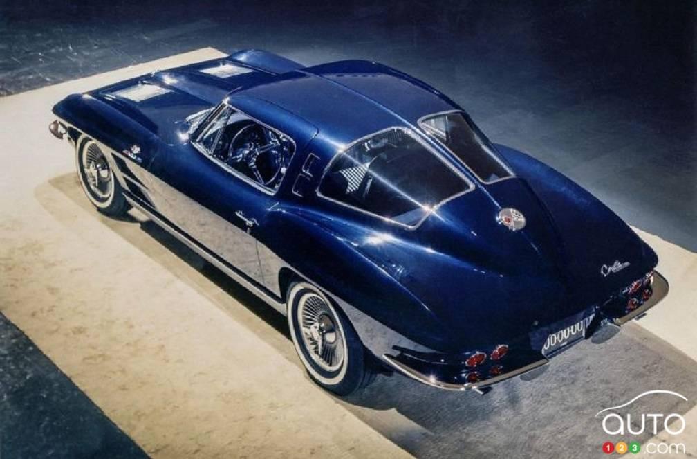 Le prototype Chevrolet Corvette, de haut
