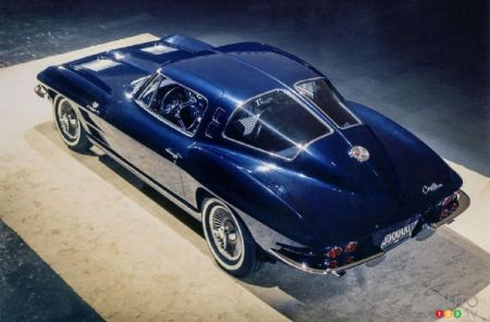 The 4-seat Chevrolet Corvette prototype, from above