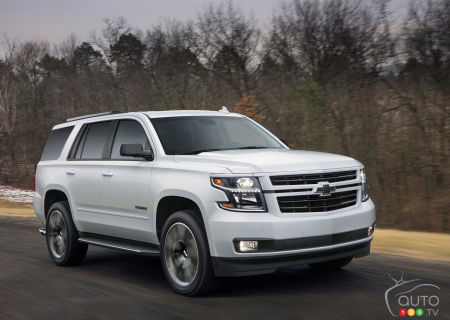 2020 Chevrolet Tahoe RST, on the road