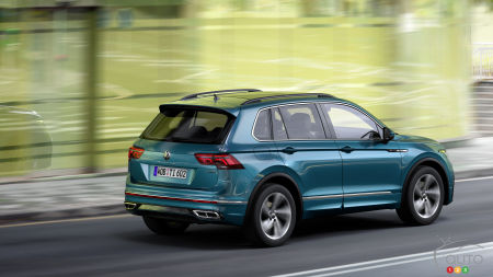 Volkswagen Tiguan 2022, trois quarts arrière