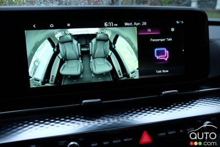 2022 Kia Carnival, interior rear view camera