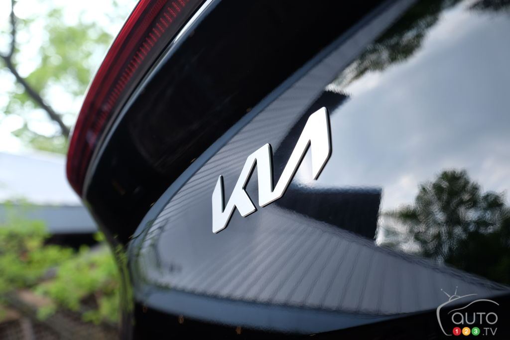 Kia EV6, logo Kia