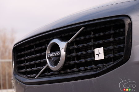 2020 Volvo S60 T8, grille with Polestar logo
