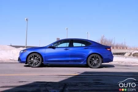 2020 Acura TLX, profile